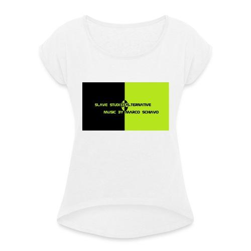 Channel_Art_Template_ufo_youtube_pt_4 - Maglietta da donna con risvolti