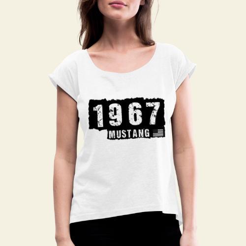 1967 - Dame T-shirt med rulleærmer