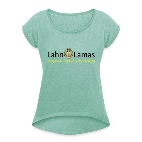 Lahn Lamas - Frauen T-Shirt mit gerollten Ärmeln