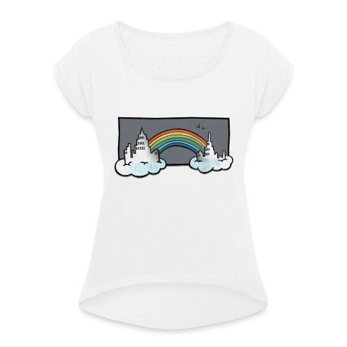 sky_city-png - Maglietta da donna con risvolti
