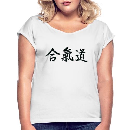 aikido - Dame T-shirt med rulleærmer