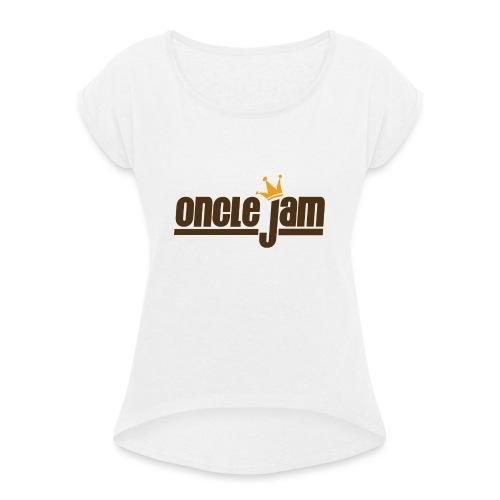 Oncle Jam horizontal brun - T-shirt à manches retroussées Femme