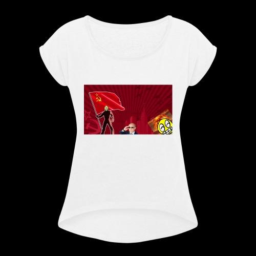 URSS feat. LeSaloo - T-shirt à manches retroussées Femme
