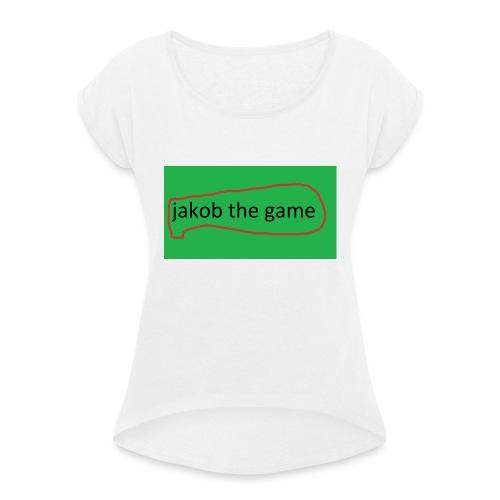 jakobthegame - Dame T-shirt med rulleærmer