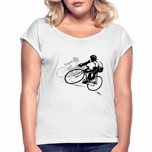 Cycling - Frauen T-Shirt mit gerollten Ärmeln
