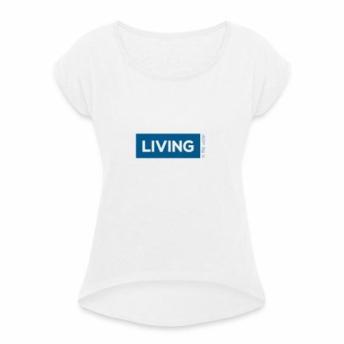 TS living water blau - Frauen T-Shirt mit gerollten Ärmeln
