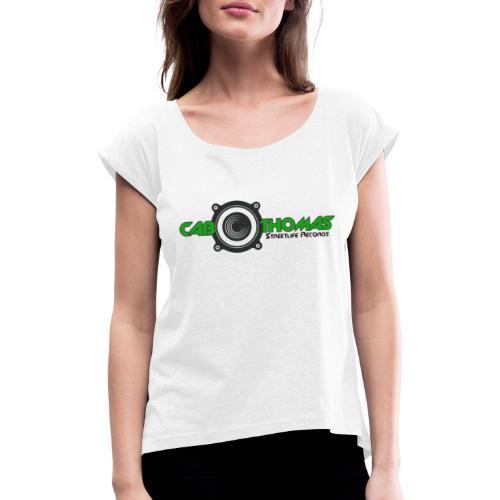 cab thomas Logo - Frauen T-Shirt mit gerollten Ärmeln