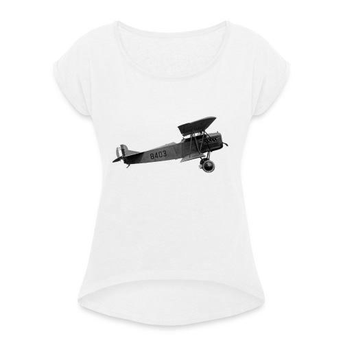 Paperplane - Women's T-Shirt with rolled up sleeves