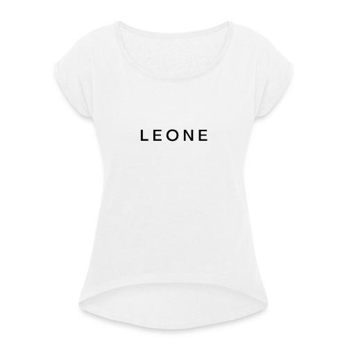 Leone Luxury × Chic - Maglietta da donna con risvolti