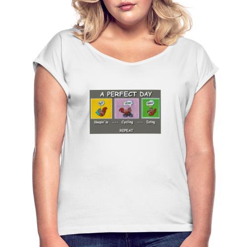 A Perfect Day Halmi - Comic - Frauen T-Shirt mit gerollten Ärmeln