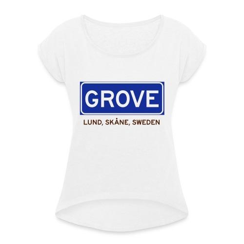 Lund, Badly Translated - T-shirt med upprullade ärmar dam