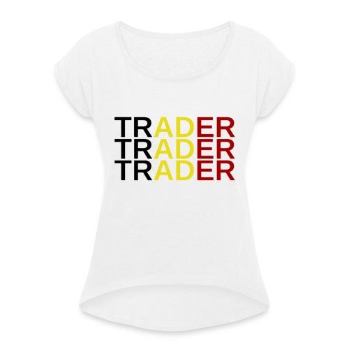 Trader Belgique - T-shirt à manches retroussées Femme