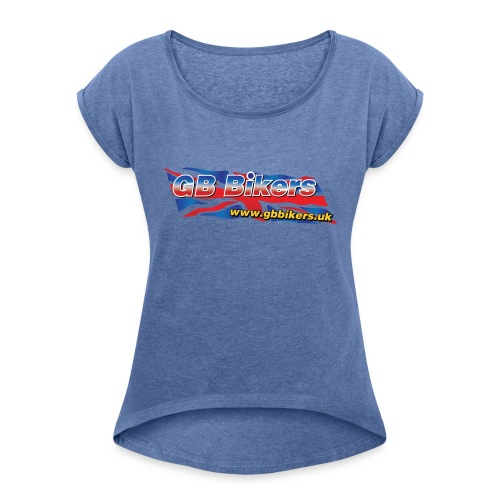 GB Bikers - Women's T-Shirt with rolled up sleeves
