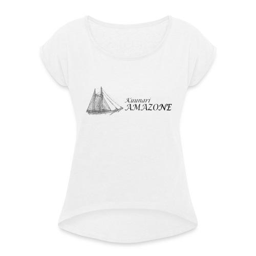 vessel-png - Naisten T-paita, jossa rullatut hihat