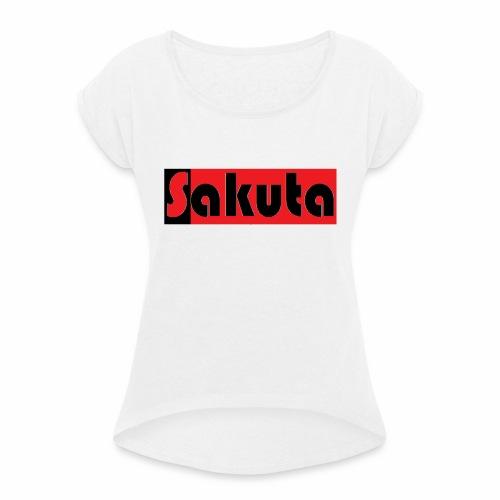 Sakuta 2 - Dame T-shirt med rulleærmer