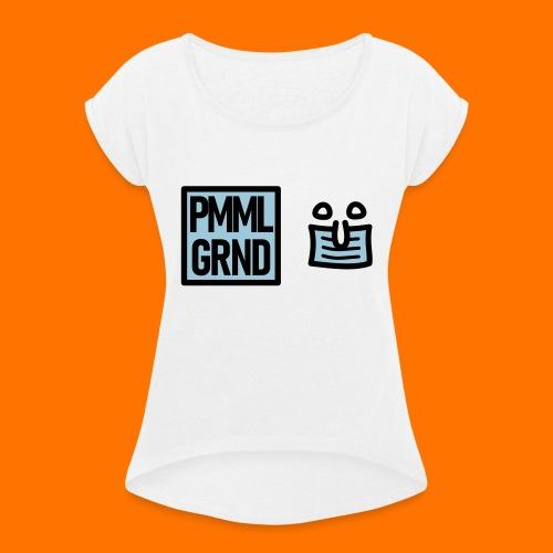 PMML GRND Maskenträger Rüsselzeiger - Frauen T-Shirt mit gerollten Ärmeln