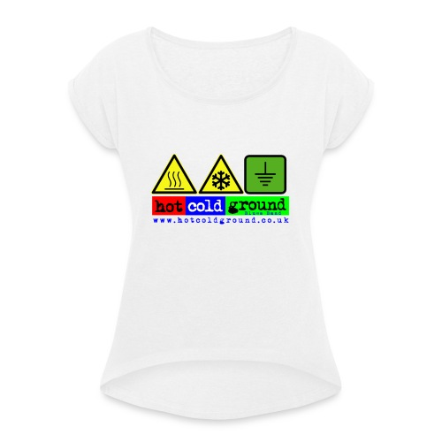 symbolism2 png - Women's T-Shirt with rolled up sleeves