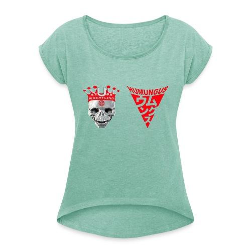 skull krone humungus3 png - Frauen T-Shirt mit gerollten Ärmeln