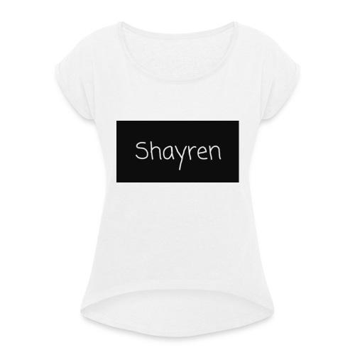 Shayren t-shirt - Vrouwen T-shirt met opgerolde mouwen