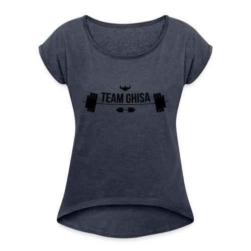 TEAMGHISALOGO - Maglietta da donna con risvolti