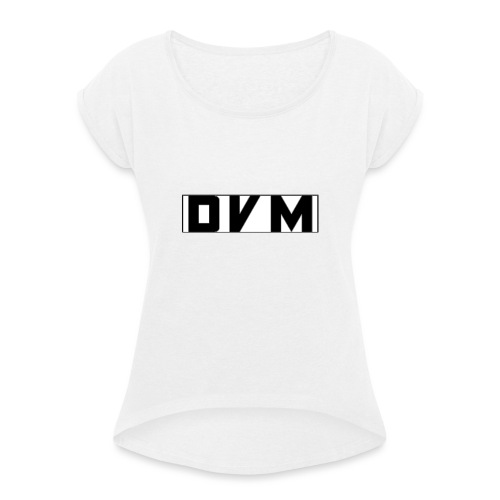 BLACK DVMTV SWEATER - Women's T-Shirt with rolled up sleeves