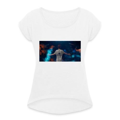 Tazza Beatstux - Maglietta da donna con risvolti
