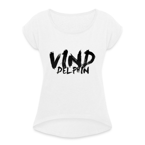 VindDelphin - Women's T-Shirt with rolled up sleeves