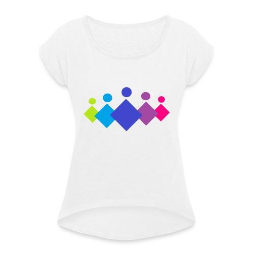 Logo EFO 3 - Vrouwen T-shirt met opgerolde mouwen
