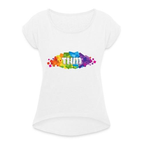 THM CLAN STYLE PIXEL - T-shirt med upprullade ärmar dam