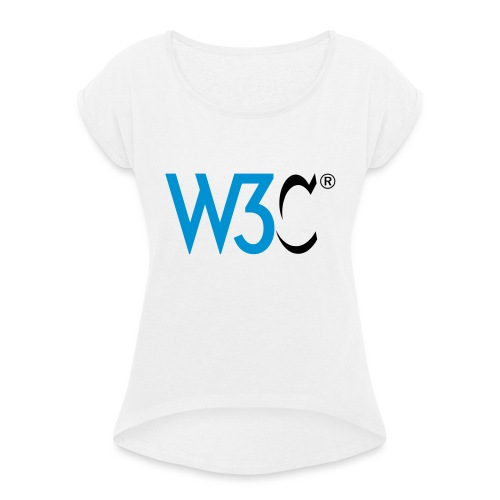 w3c - Women's T-Shirt with rolled up sleeves