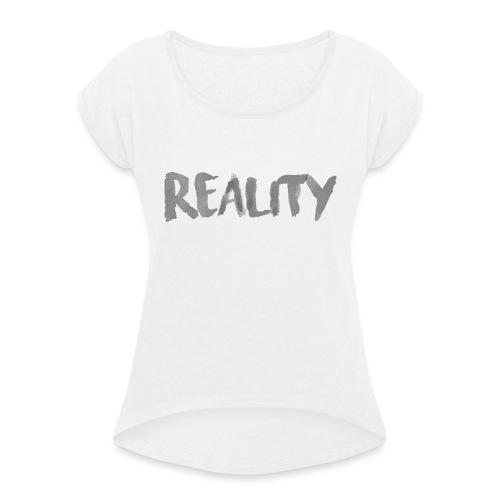 White_REALITY - T-shirt à manches retroussées Femme