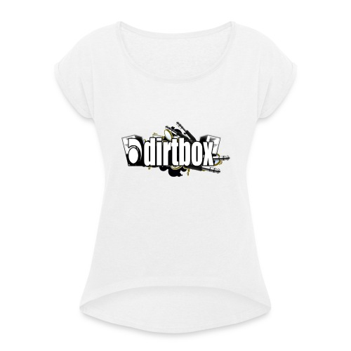 DIRTBOX - Women's T-Shirt with rolled up sleeves