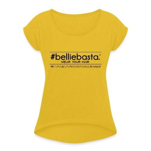 belliebasta - Maglietta da donna con risvolti