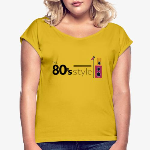 80s - Camiseta con manga enrollada mujer