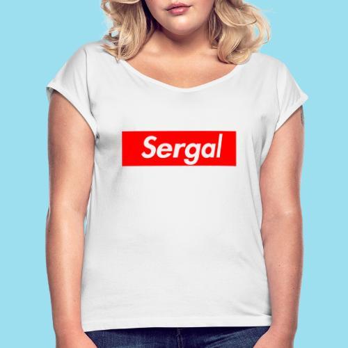SERGAL Supmeme - Frauen T-Shirt mit gerollten Ärmeln