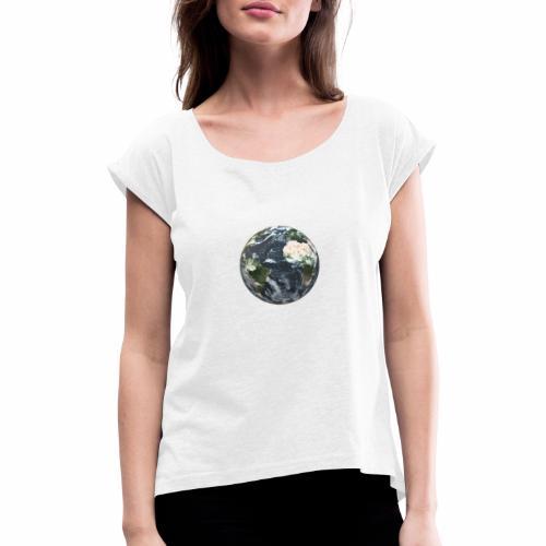 LOGO_ICONES - T-shirt à manches retroussées Femme
