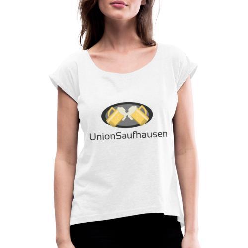 UnionSuffhausenMerch - Frauen T-Shirt mit gerollten Ärmeln