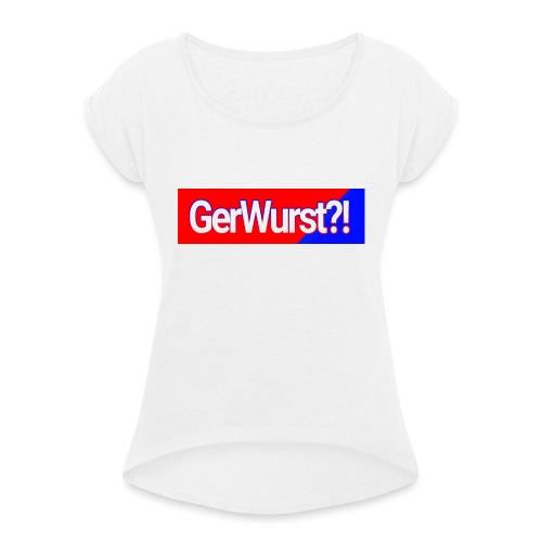 IMG 20170308 182224 - Vrouwen T-shirt met opgerolde mouwen