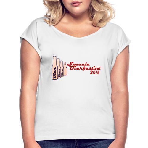 Smeele Bierfestival 2018 - Vrouwen T-shirt met opgerolde mouwen