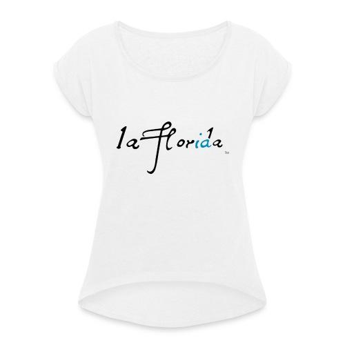 logo laflorida - Camiseta con manga enrollada mujer