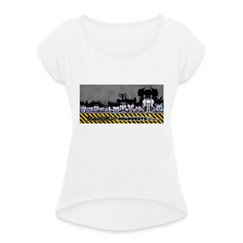 #MarchOfRobots ! LineUp Nr 2 - Dame T-shirt med rulleærmer