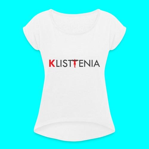 KLALISTENIA - Camiseta con manga enrollada mujer