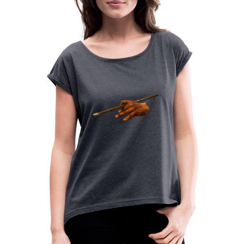"""Billard Shirt """"Polygon - Pool Billard - Frauen T-Shirt mit gerollten Ärmeln"""