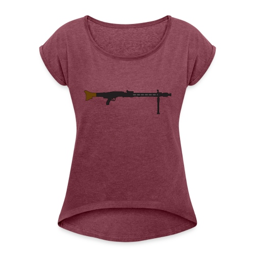 Mg42 Mg3 german gun - Women's T-Shirt with rolled up sleeves