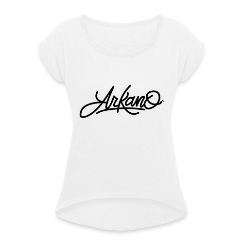 Arkano - Camiseta con manga enrollada mujer
