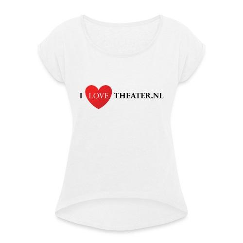 tas - Vrouwen T-shirt met opgerolde mouwen