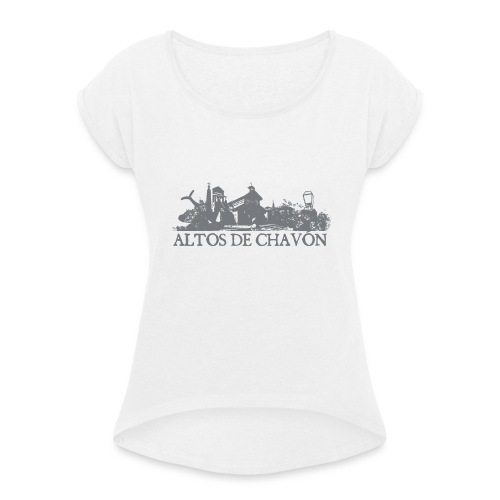 Alto de Chavon 01 - Camiseta con manga enrollada mujer