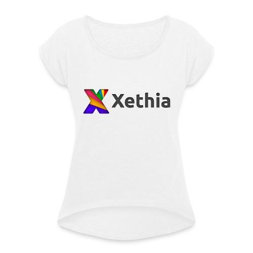 Xethia Logo - T-shirt med upprullade ärmar dam