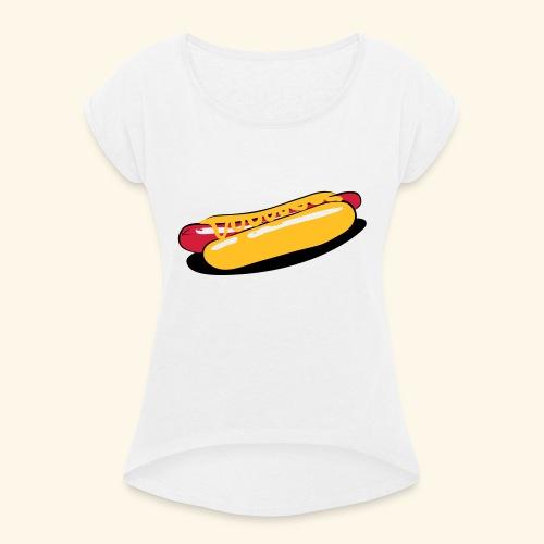 Karotte Illustriert - Frauen T-Shirt mit gerollten Ärmeln