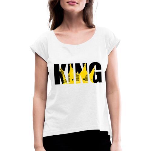 KING JAUNE - T-shirt à manches retroussées Femme